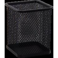 Подставка для ручек метал BUDOMAX, квадратная черная