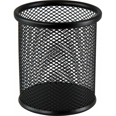 Подставка для ручек метал BUDOMAX, круглая черная