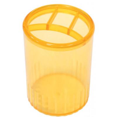 Стакан-подставка на 4 отдел. пластик.желтый