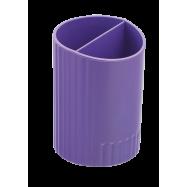 Подставка для ручек пластик ZiBi круглая на 2 отд. фиолетовая