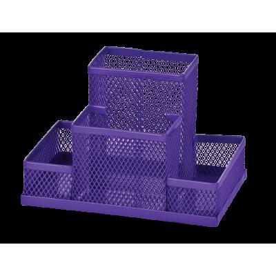 Прибор настольный 150x100x100мм металический, фиолетовый