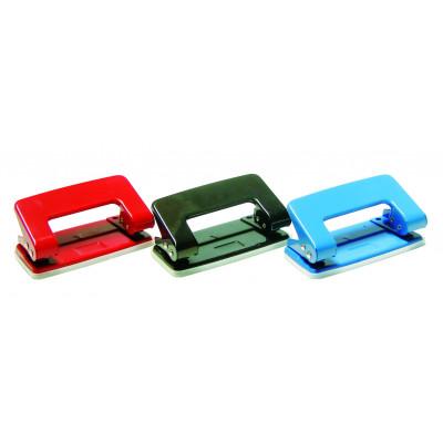 дырокол метал,  8см, 8л, цв. в ас-те, 4-300, 4OFFICE