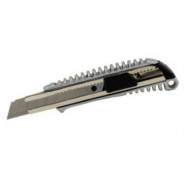 Нож канцелярский 18мм, мет. вставки, мет корпус