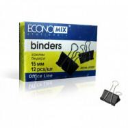 Биндер 15мм (12шт.) Economix