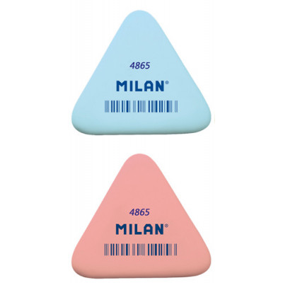 Ластик MILAN 4865 (треуг. ассорти)