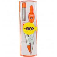Циркуль з мех.карандашом в боксе + грифель ZiBi  оранжевый ZB5340MP-11