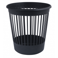 Корзина офисная для бумаг 10 л. пластик, черная