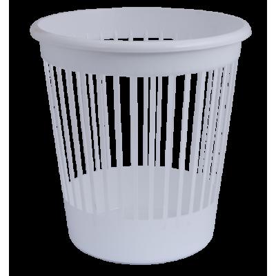 Корзина офисная для бумаг 10 л. пластик, белая