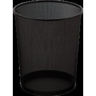 Корзина для бумаги круглая 295x295x345мм, метал, черная
