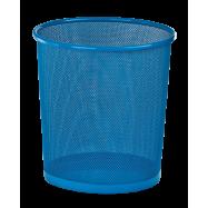 Корзина для паперів кругла, метал, синій
