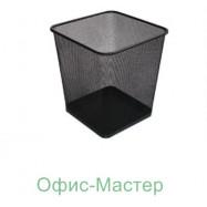 Корзина для бумаги прямоугольная, серебро