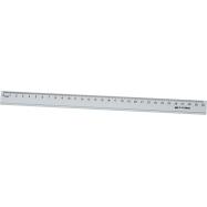 Линейка алюминевая 30 см , цветная: серебро