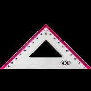 Треугольник 100мм, с салатовой полосой блистер