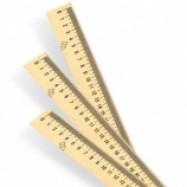 Линейка  деревянная алгебра (шелкография) 30см
