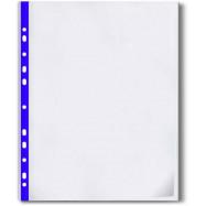 Файл А4+, 40мкн.(100шт) Optima с синей лентой