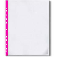 Файл А4+, 40мкн гладкий, з рожевою стрічкою (за 100 шт.)