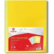Папка-карманець , A4+, гладкий, жовтий (за 100 шт.)