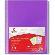 Файл А4+, 40мкн.(100шт) Optima фиолетовый