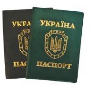 "Обкладинка Паспорт Sarif ТМ""BRISK OFFICE"" синий100х135 круглий куток"