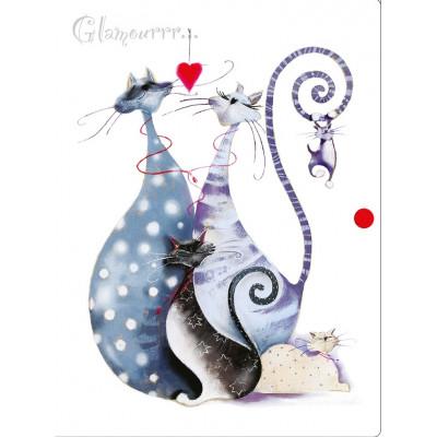 """Папка на кнопці об'ємна А4 """"Glamour cats"""" L5905"""