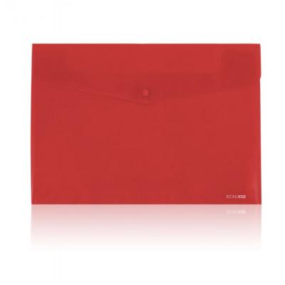 Папка-конверт А5 Economix, цв. прозрачная на кнопке, ассорти