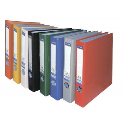 Папка-регистратор цветная  2 O-кільца, 38мм, А4, черная