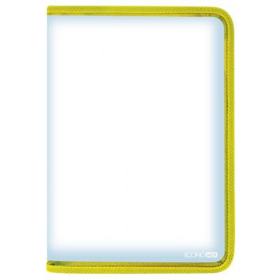 Пенал пластиковий на блискавці А4, жовтий