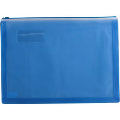 Папка-конверт А4 (з розш. дном), пласт. блискавка, асорті