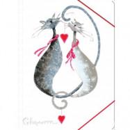 "Папка на резинке А4 ""Glamour cats"" L5909/L5910"
