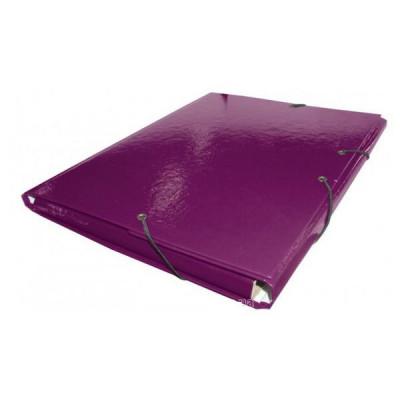 Папка  на резинке А4 фиолетовая