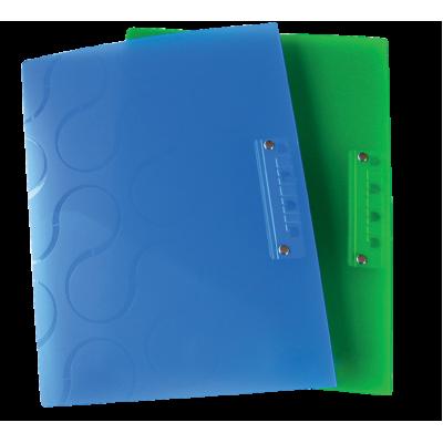 Папка с боковым прижимом OMEGA A4 PP ассорти