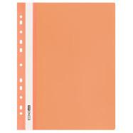 Папка-скор. А4, PР, пр.верх, с европерф.оранжевый