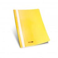 Папка-скоросшиватель с прозр.верхом А4 без перф.желтая