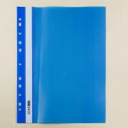 Папка-скор. А4, PР, пр.верх, с европерф.синий Economix