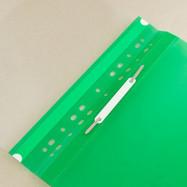 Папка-скор. А4, PР, пр.верх, с европерф.зеленый