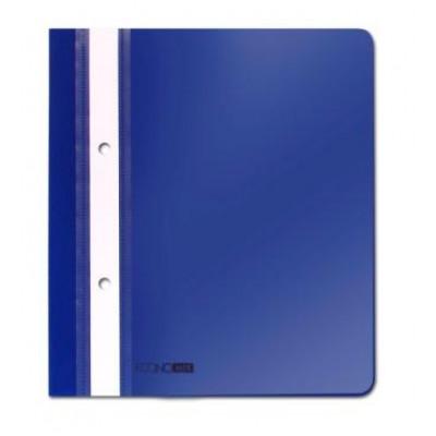 Папка-скоросшиватель А5 Economix с перф., синяя, глянец