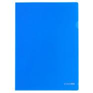 Папка-уголок А4 180 мкр.,синий