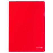 Папка-уголок А4 180 мкр.,красный