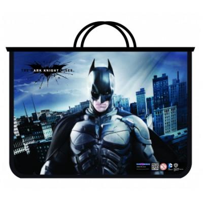 """Портфель пластиковий на блискавці """"Batman"""", А4"""