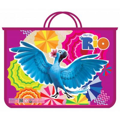 """Портфель пластиковий на блискавці """"Rio"""", А4"""