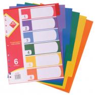 Розділювачі пласт.  А4  (кольор.) (6арк. у пач.) арт. KL0306  KLERK
