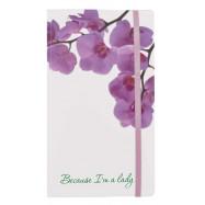 """Визитница на 120 визиток """"Because I am lady"""" (Орхидея)"""