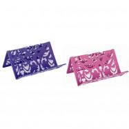 """Підставка для візиток """"Barocco"""" 100*97*47 мм метал, фіолетова"""