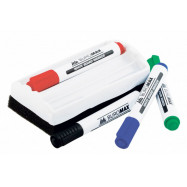 Комплект из 4 маркеров (BM.8800) и губки для магнитных досок