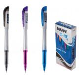 ручка гелевая, 0.6мм, QBE, WIN фиол.