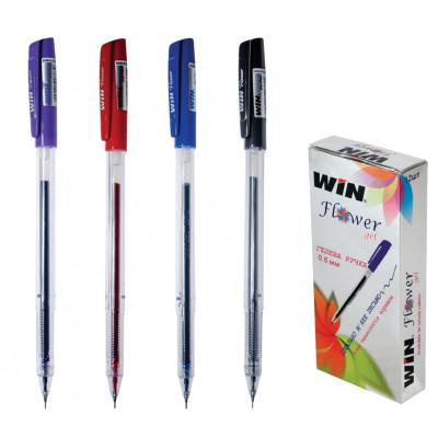 ручка гелевая, 0.6мм, FLOWER, WIN фиол.