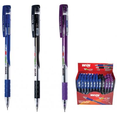 ручка шар., маслян., 0.6мм, VISION, WIN фиол.