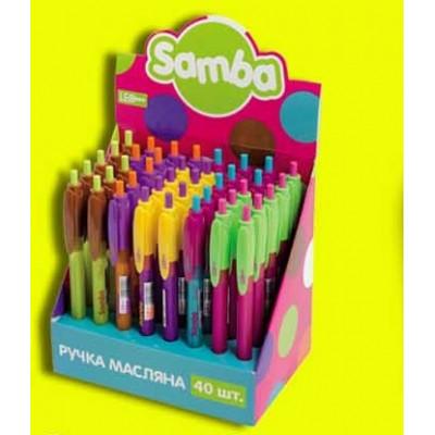 """Ручка шар. масл. АВТОМАТ. """"SAMBA"""" 0,7мм, мікс кольор"""