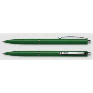 Ручка кульк. автом. Schneider, К15  корпус зеленый, пишет синим
