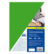 "Обкладинка картонна ""глянець"" А4 250г/м2,зелен.(20шт)"